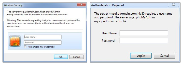 浏览器Basic Auth:IE9和Chrome的弹出式认证对话框