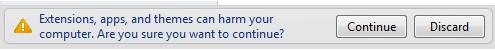 允许安装 Chrome 插件
