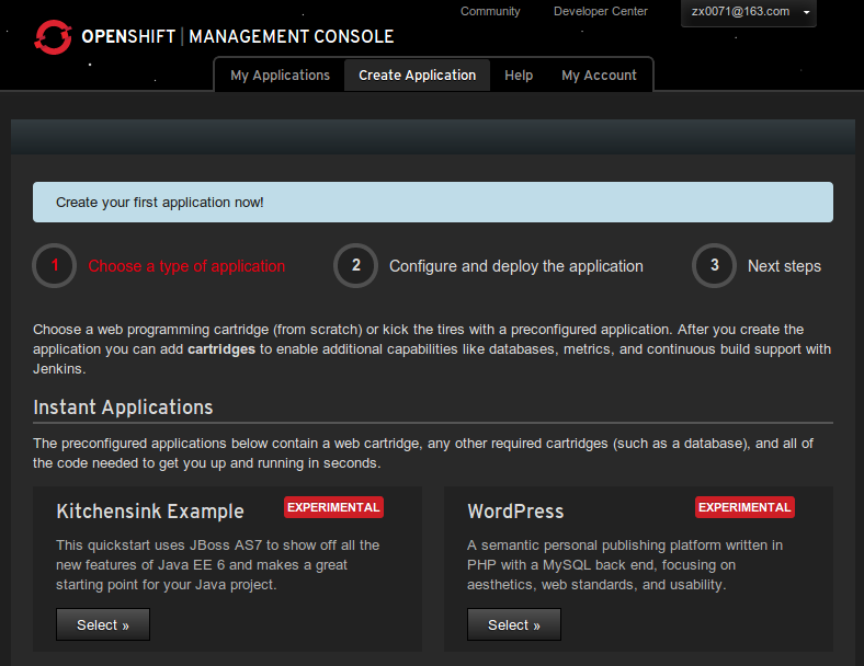 Openshift-first-application