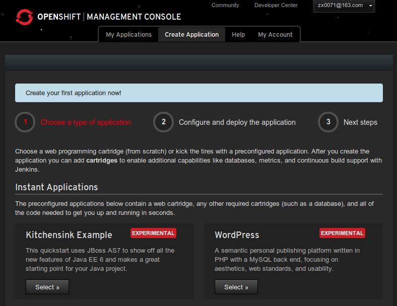 Openshift-first-application
