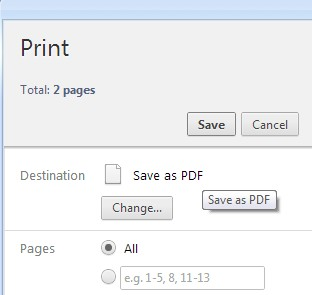 Chrome 打印为 PDF