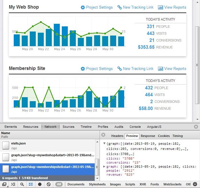 前端实现的精美界面,后端仅提供 JSON 格式数据